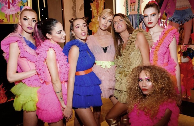 Stella Maxwell and Anna Dello Russo at the Antonia x Teen Idol party.