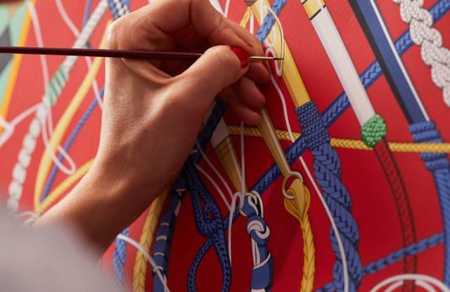 An artisan from Hermès.