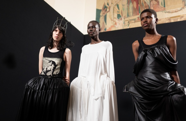 Backstage at Ann Demeulemeester RTW Fall 2020