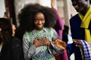 Backstage at Kenneth Ize RTW Fall 2020