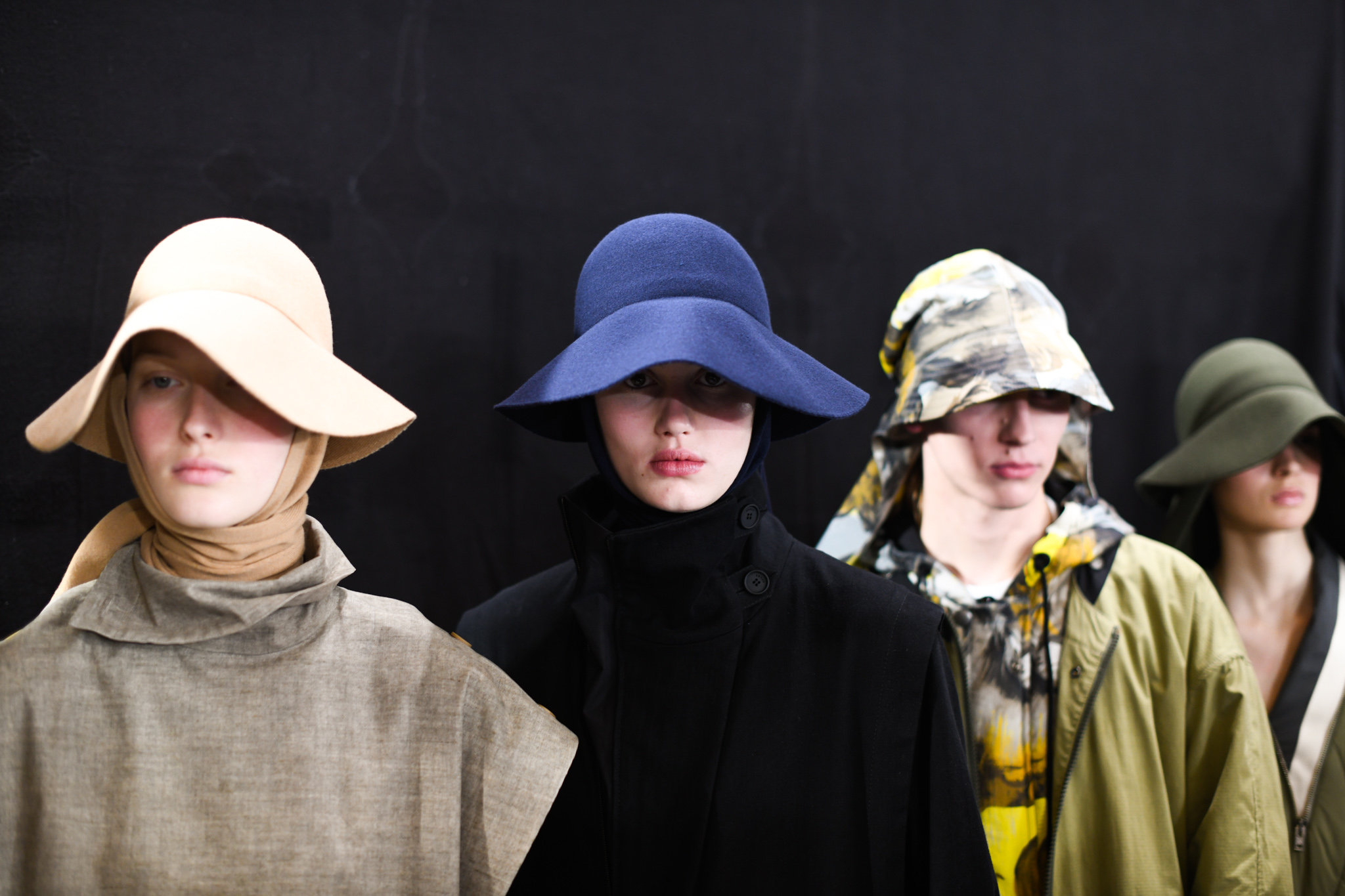 Backstage at Kenzo RTW Fall 2020