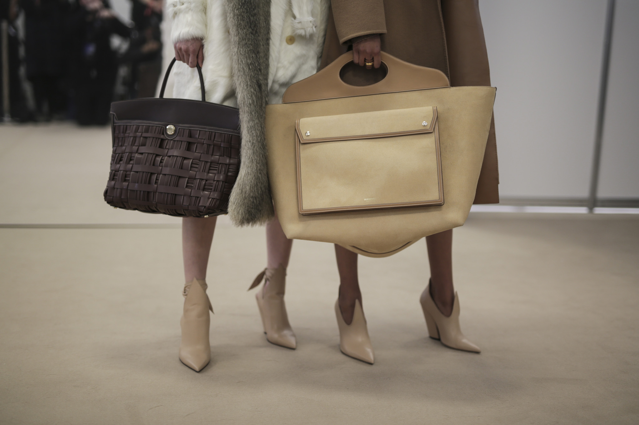 Backstage at Burberry RTW Fall 2020