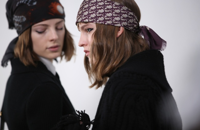 Backstage at Dior RTW Fall 2020