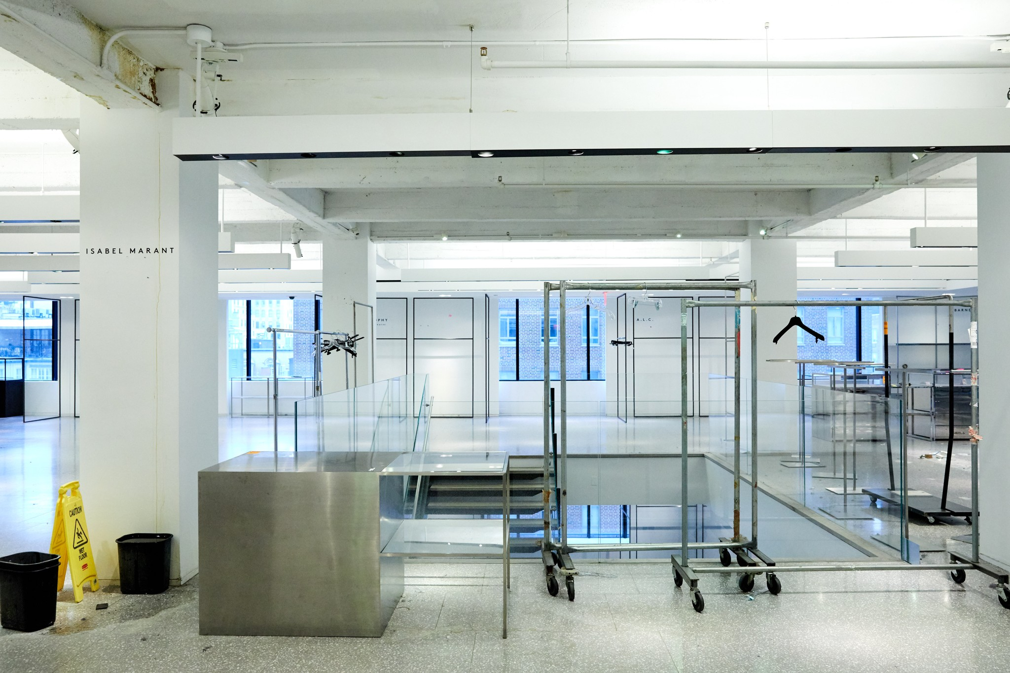 Barneys' contemporary co-op space stripped of its stock.