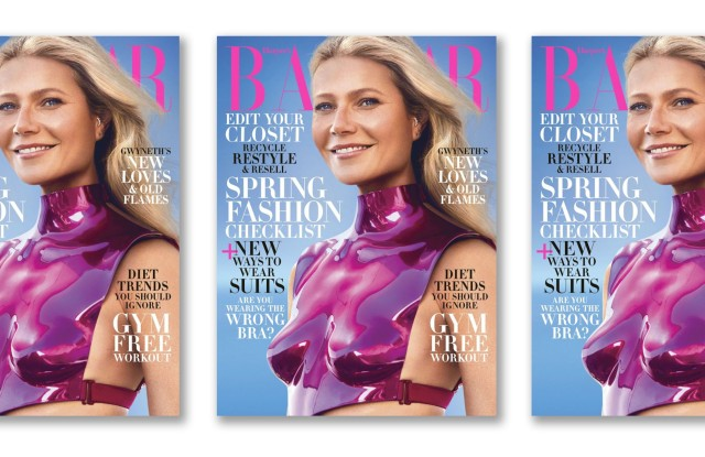 Gwyneth Paltrow on the February 2020 cover of Harper's Bazaar.