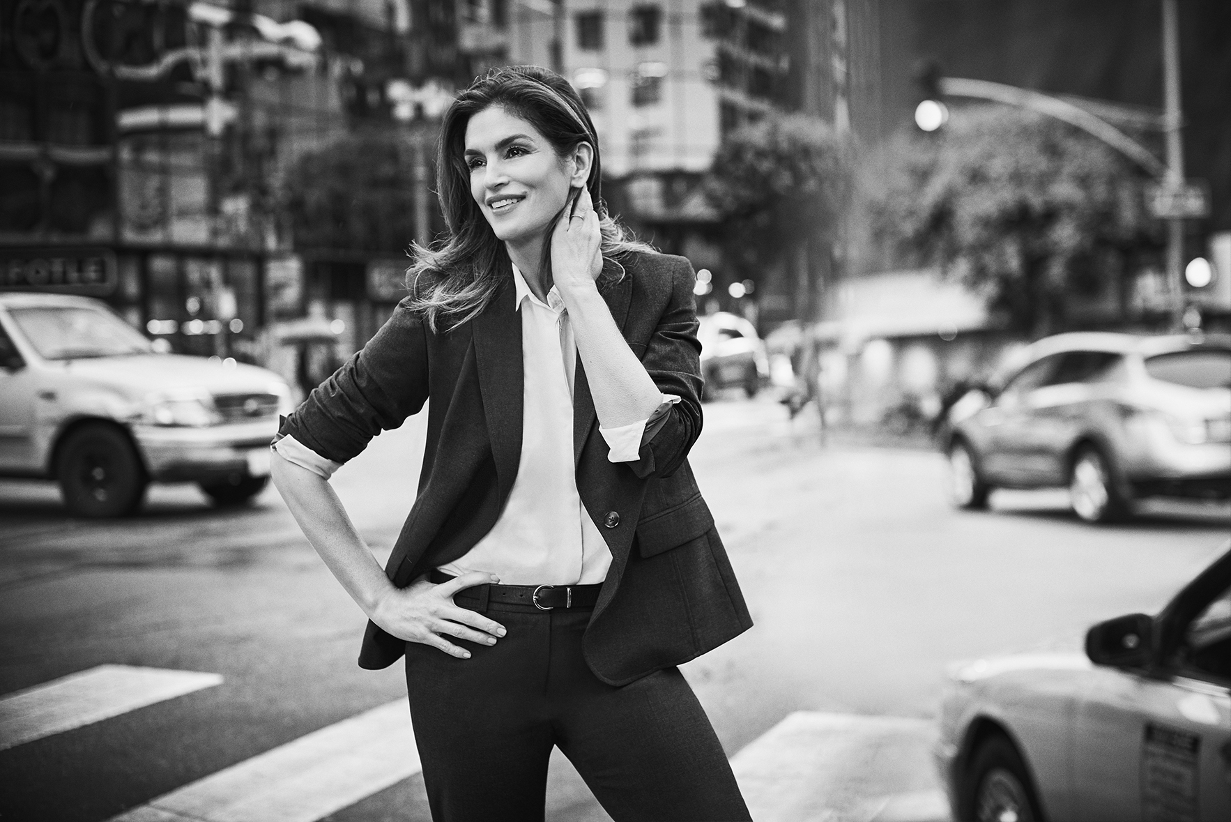 Cindy Crawford is featured in Jones New York's spring campaign.