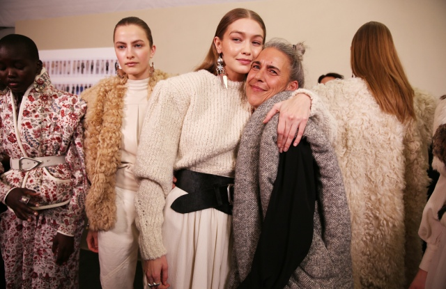 Backstage at Isabel Marant RTW Fall 2020
