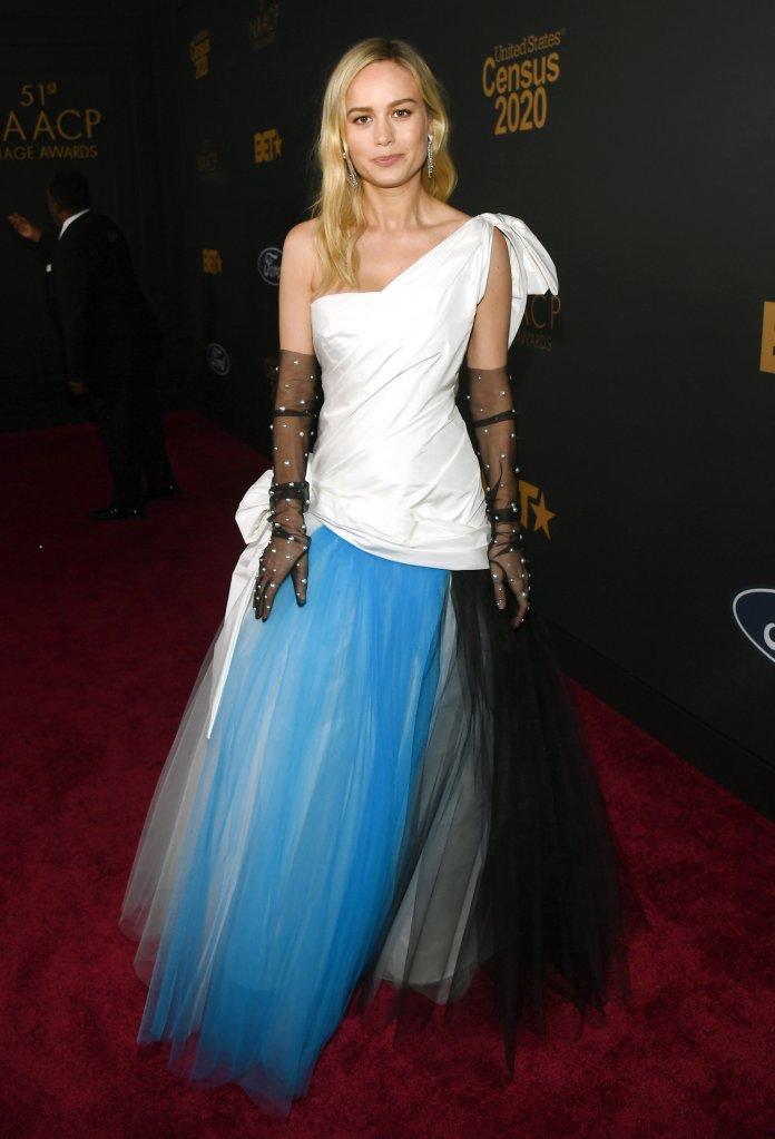 Brie Larson51st Annual NAACP Image Awards, Arrivals, Pasadena Civic Auditorium, Los Angeles, USA - 22 Feb 2020Wearing Rodarte