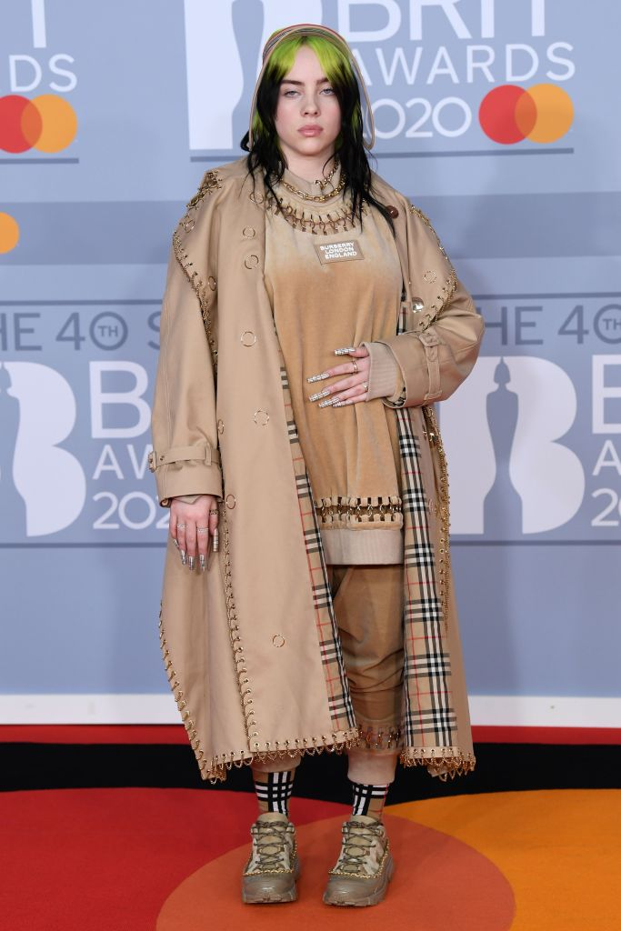 2020 Brit Awards Red Carpet: Billie Eilish in Burberry