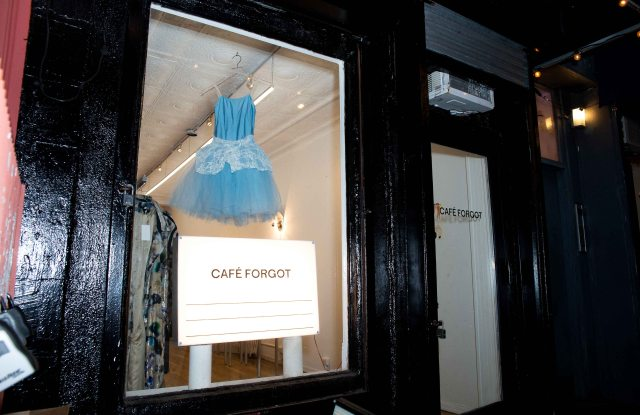 Café Forgot's East Village store, currently closed during COVID-19 lockdown.