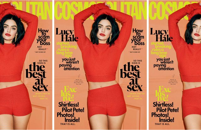 Lucy Hale on the cover of Cosmopolitan.