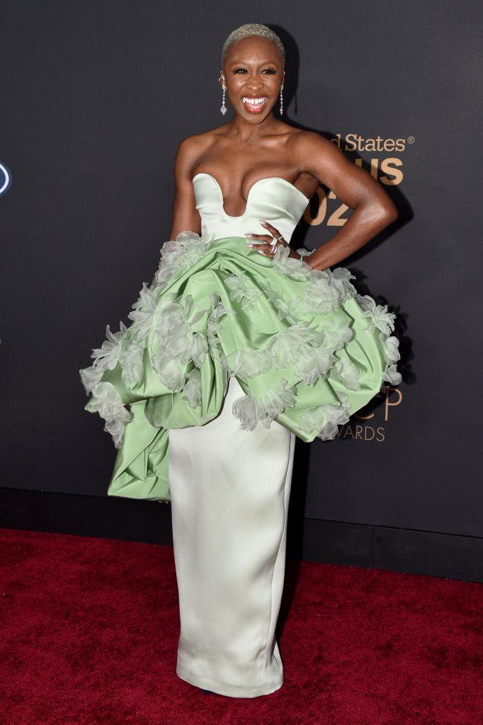 Cynthia Erivo51st Annual NAACP Image Awards, Arrivals, Pasadena Civic Auditorium, Los Angeles, USA - 22 Feb 2020Wearing Prabal Gurung same outfit as catwalk model *10553344ab