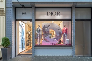 The new Dior Men's store in Soho.