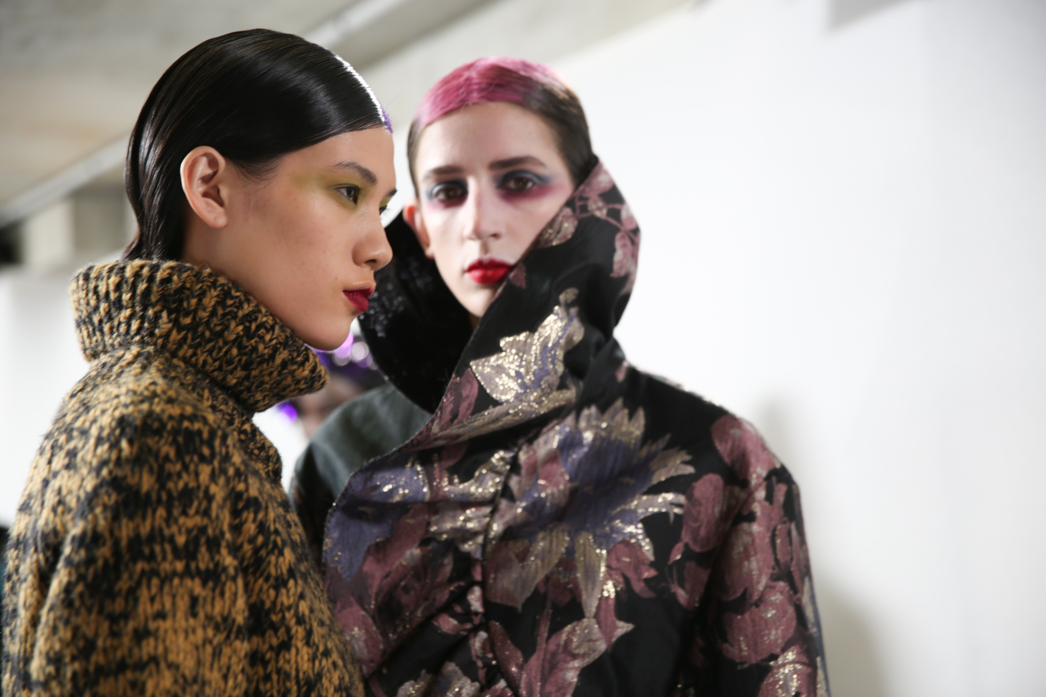 Backstage at Dries Van Noten RTW Fall 2020