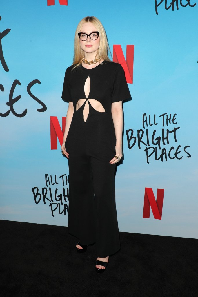 Elle Fanning'All the Bright Places' film special screening, Arrivals, ArcLight Cinemas, Los Angeles, USA - 24 Feb 2020Wearing Gucci Same Outfit as catwalk model *10420358v