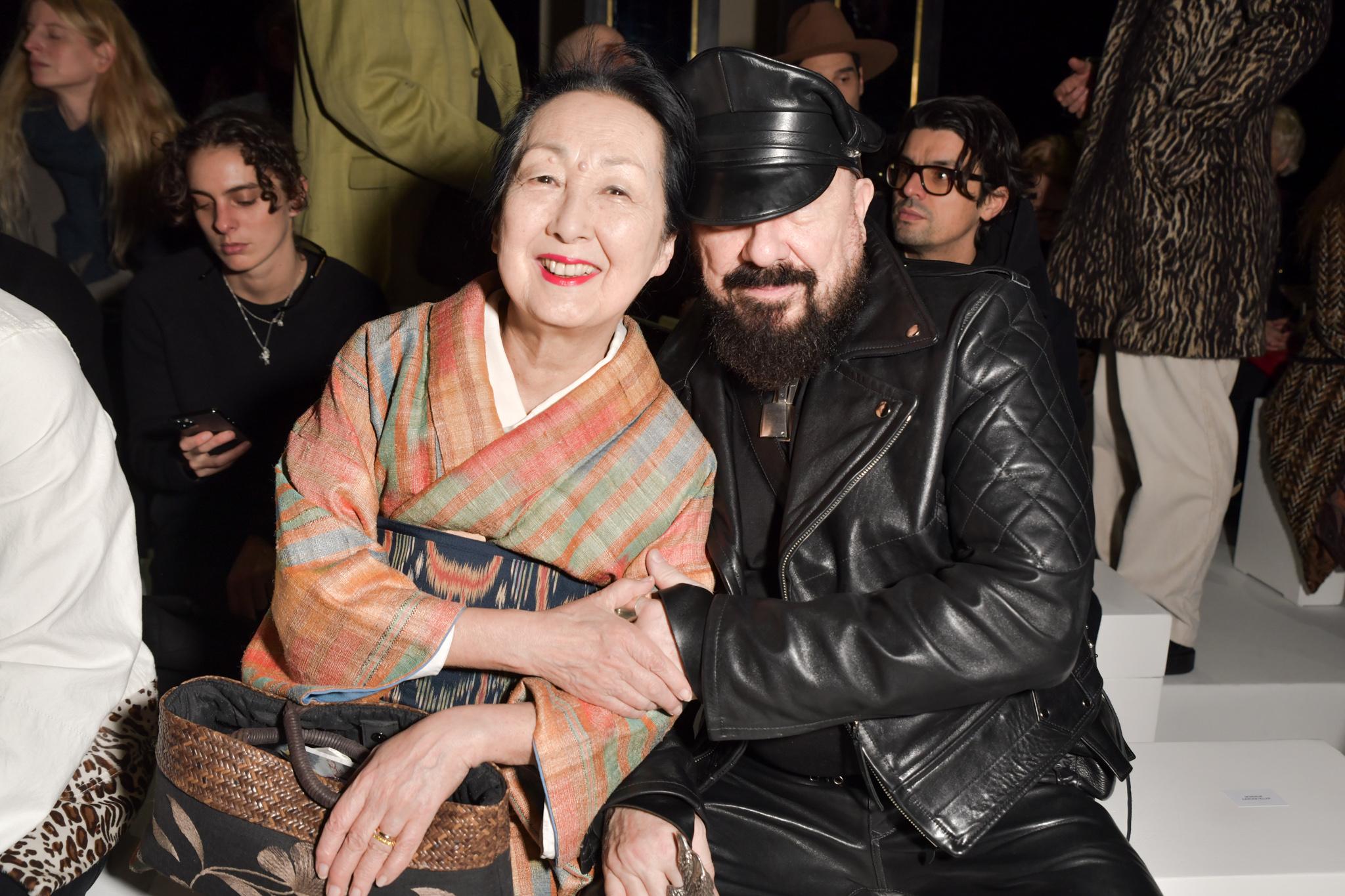 Setsuko De Rola Klossowska and Peter Marino in the front row