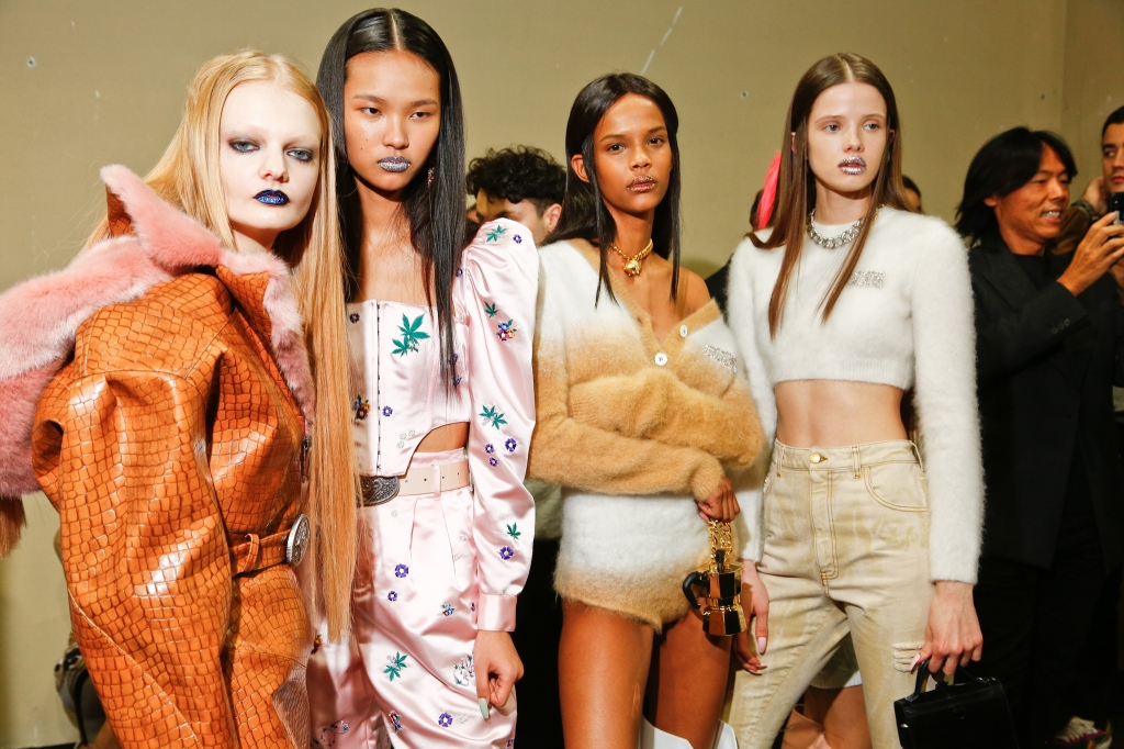Backstage at GCDS RTW Fall 2020