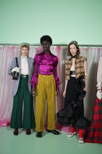 Backstage Gucci RTW Fall 2020