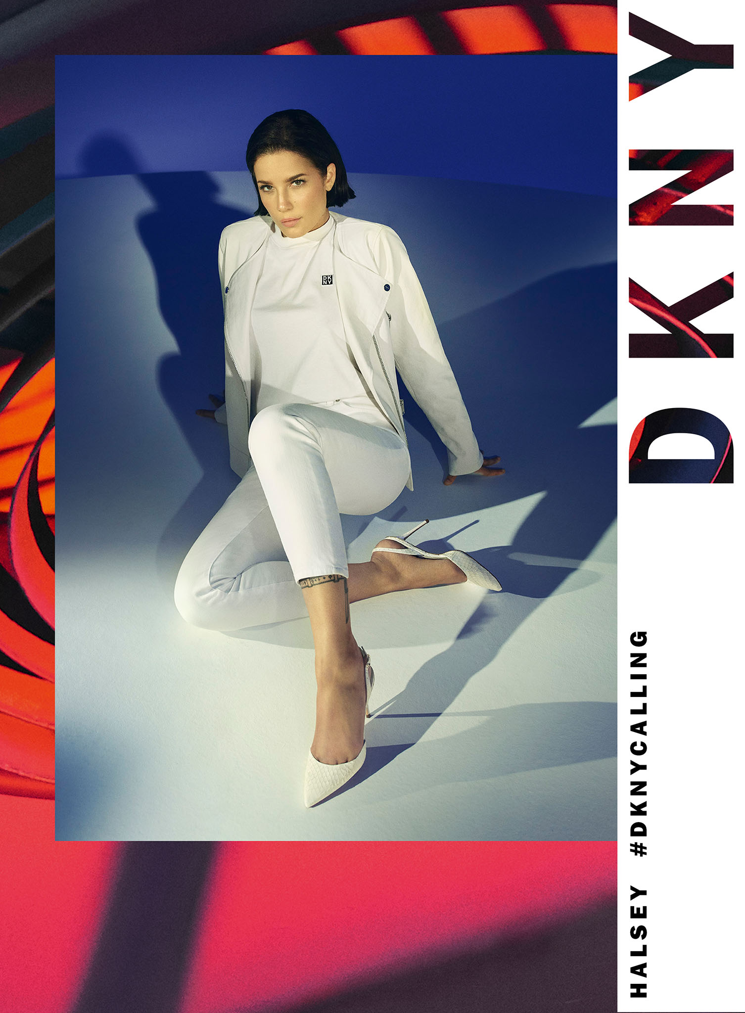 Halsey will once again appear in DKNYs campaign. Photographed by Zoey Grossman and styled by Zoe Costello, the spring campaign uses the New York City subway as a backdrop. Multimedia artist and model David Alexander Flinn is also featured in the ads. Videography was done by Nathalie Canguilhem. The dream-like hues of the campaign pay homage to New York City's drive to dream big and change the world. Ads, including video, break globally today and will appear on paid social platforms and outdoor media in key global markets, including New York, Los Angeles, Miami, Chicago, London, Milan, Berlin, Frankfurt, Madrid, Barcelona, Dubai and Mexico City through April. — Lisa Lockwood