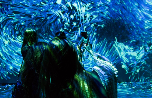 """A glimpse of the """"Submerge"""" installation."""