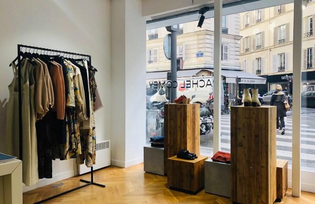 Rachel Comey's Paris pop-up store.