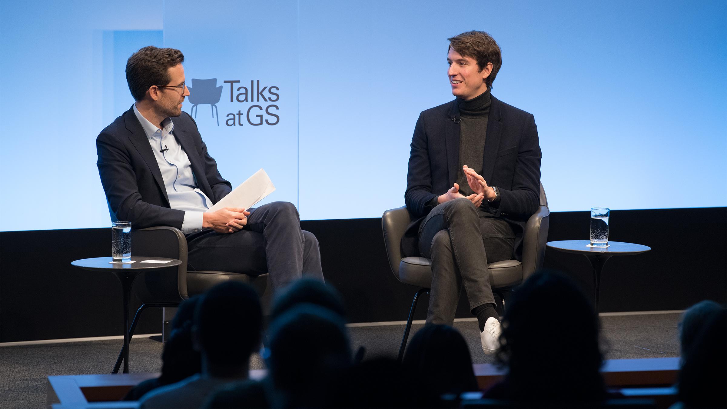 Goldman Sachs' Josh Murray and Alexandre Arnault.