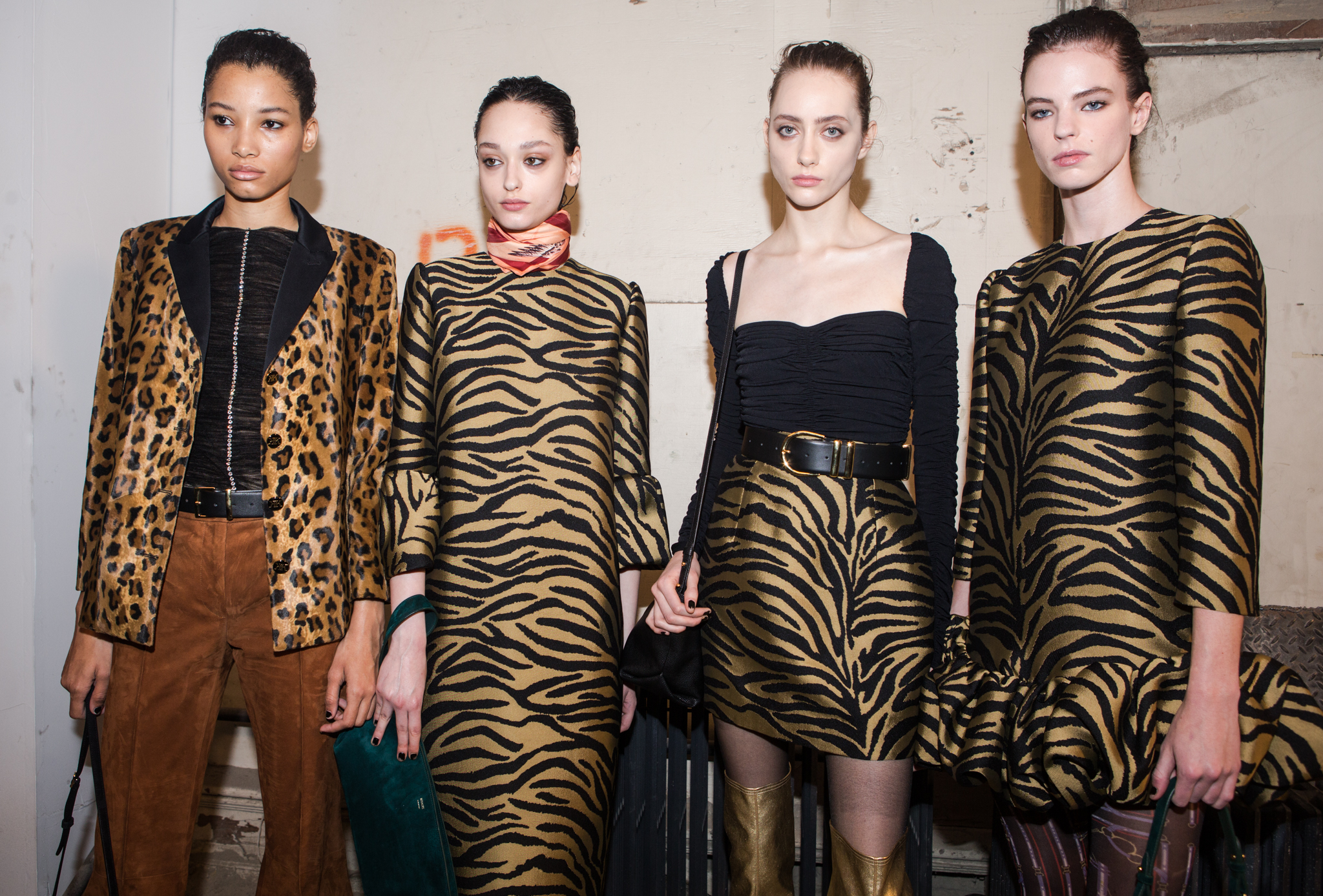 Backstage at Khaite RTW Fall 2020