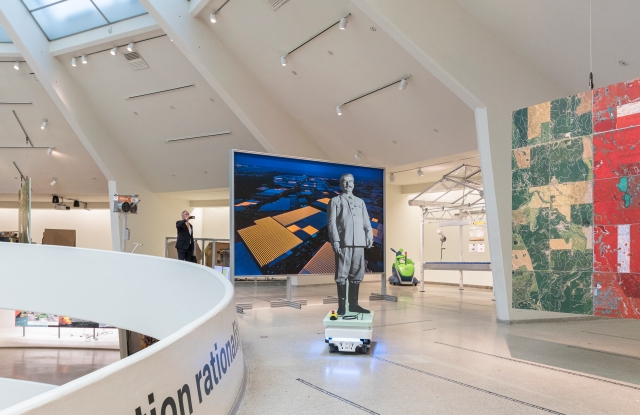 """The """"Countryside, The Future"""" exhibition at the Guggenheim in New York featured robotic elements."""