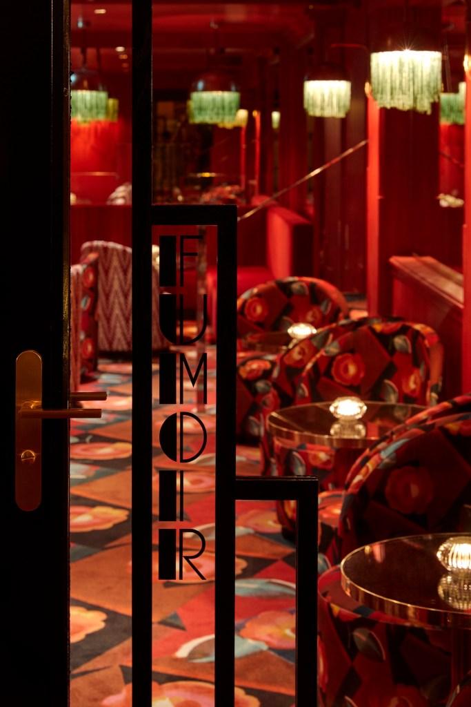The smoking room at Le Boeuf sur le Toit in Paris.