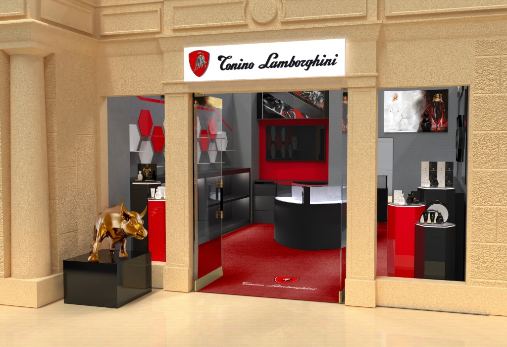 The new Tonino Lamborghini store in Las Vegas