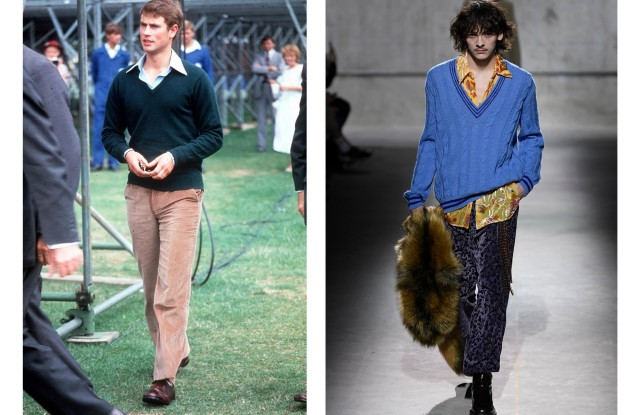 Prince Edward in 1983 and Dries Van Noten MenÕs Fall 2020