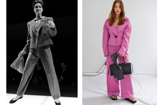 Armani Fall 1985 and Claudia Li Spring 2020