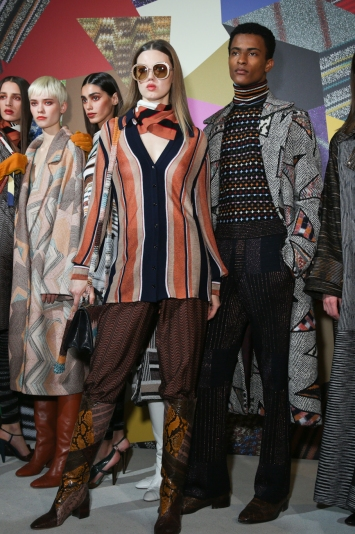 Backstage at Missoni RTW Fall 2020