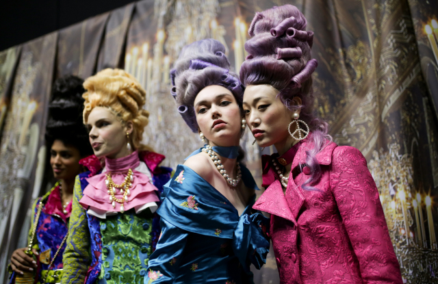 Backstage at Moschino RTW Fall 2020