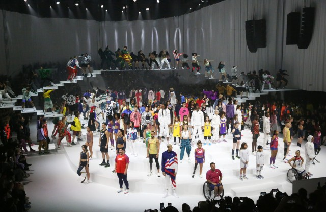 The scene at the Nike RTW Fall 2020 show.