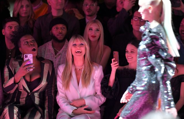 Leslie Jones, Heidi Klum, and Rachel Bilson in the front row Christian Siriano show