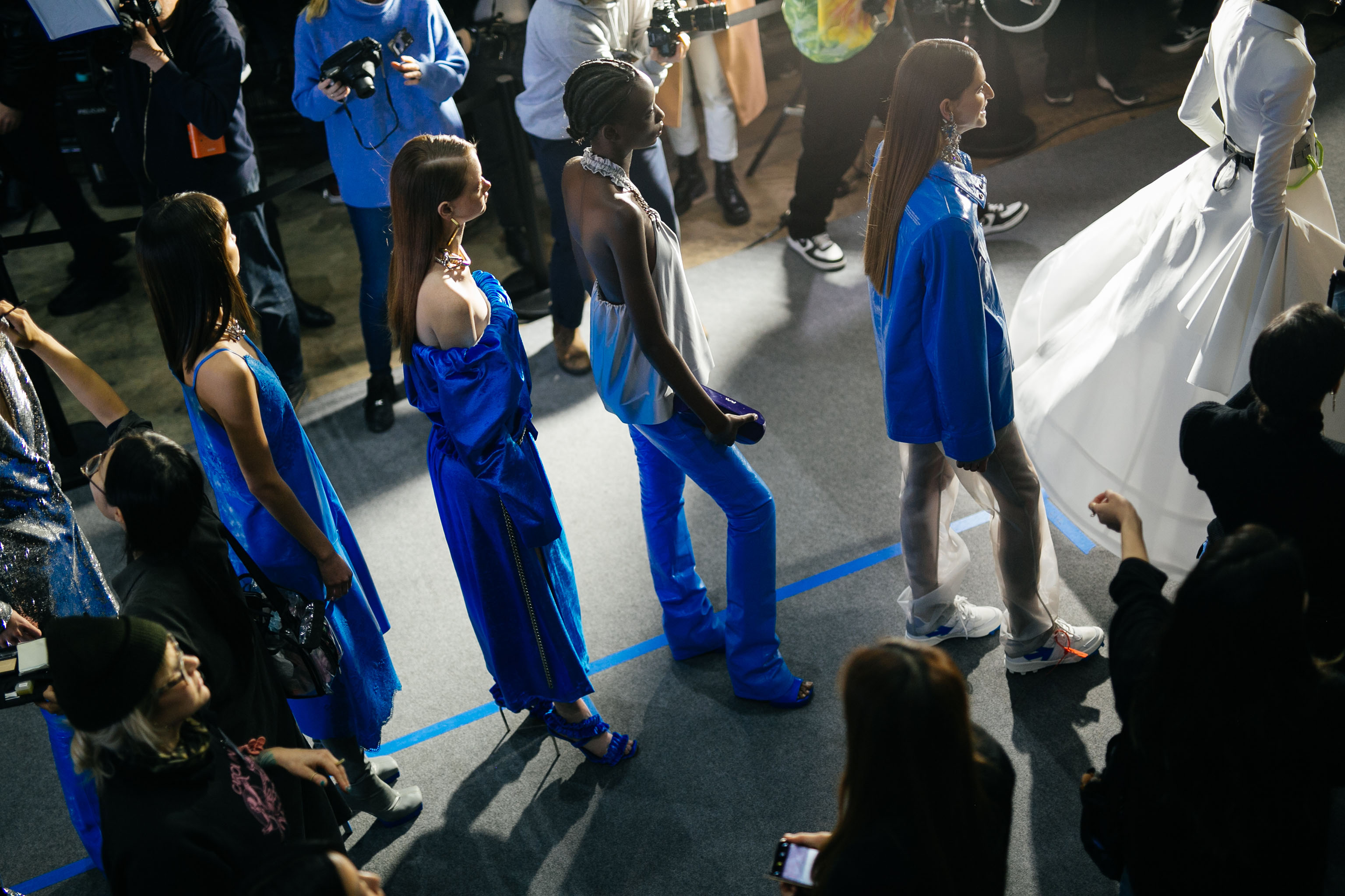 Backstage at Off-White RTW Fall 2020