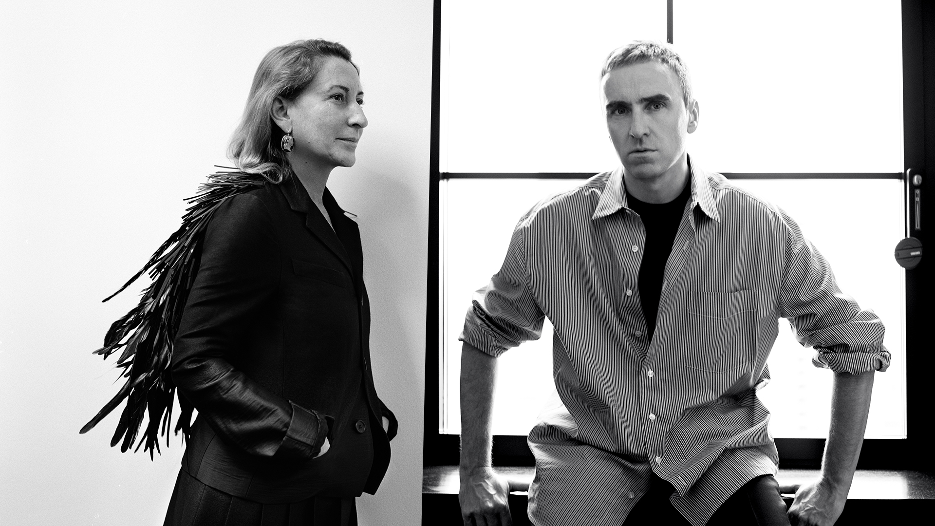 Miuccia Prada and Raf Simons are now co-creative directors of Prada.