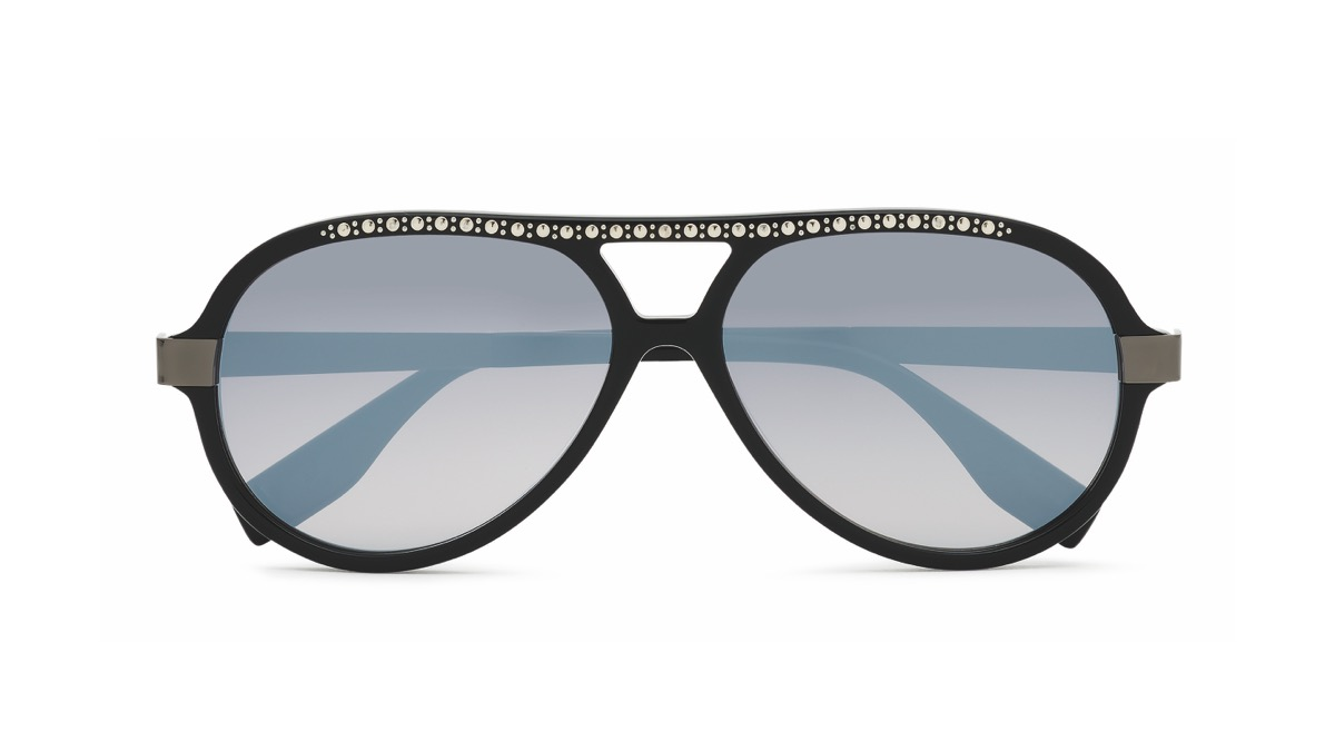 "A unisex aviator part of the Karl Lagerfeld eyewear's ""Icons of an Icon"" range, manufactured by Marchon."