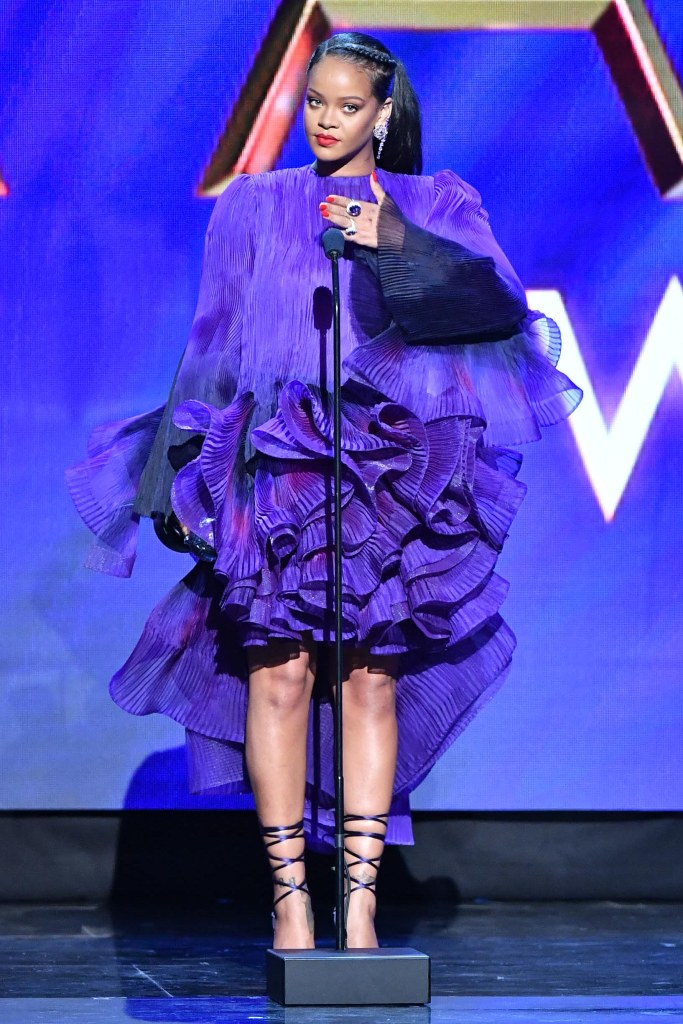 Rihanna51st Annual NAACP Image Awards, Show, Pasadena Civic Auditorium, Los Angeles, USA - 22 Feb 2020Wearing Givenchy same outfit as catwalk model *10531207aa