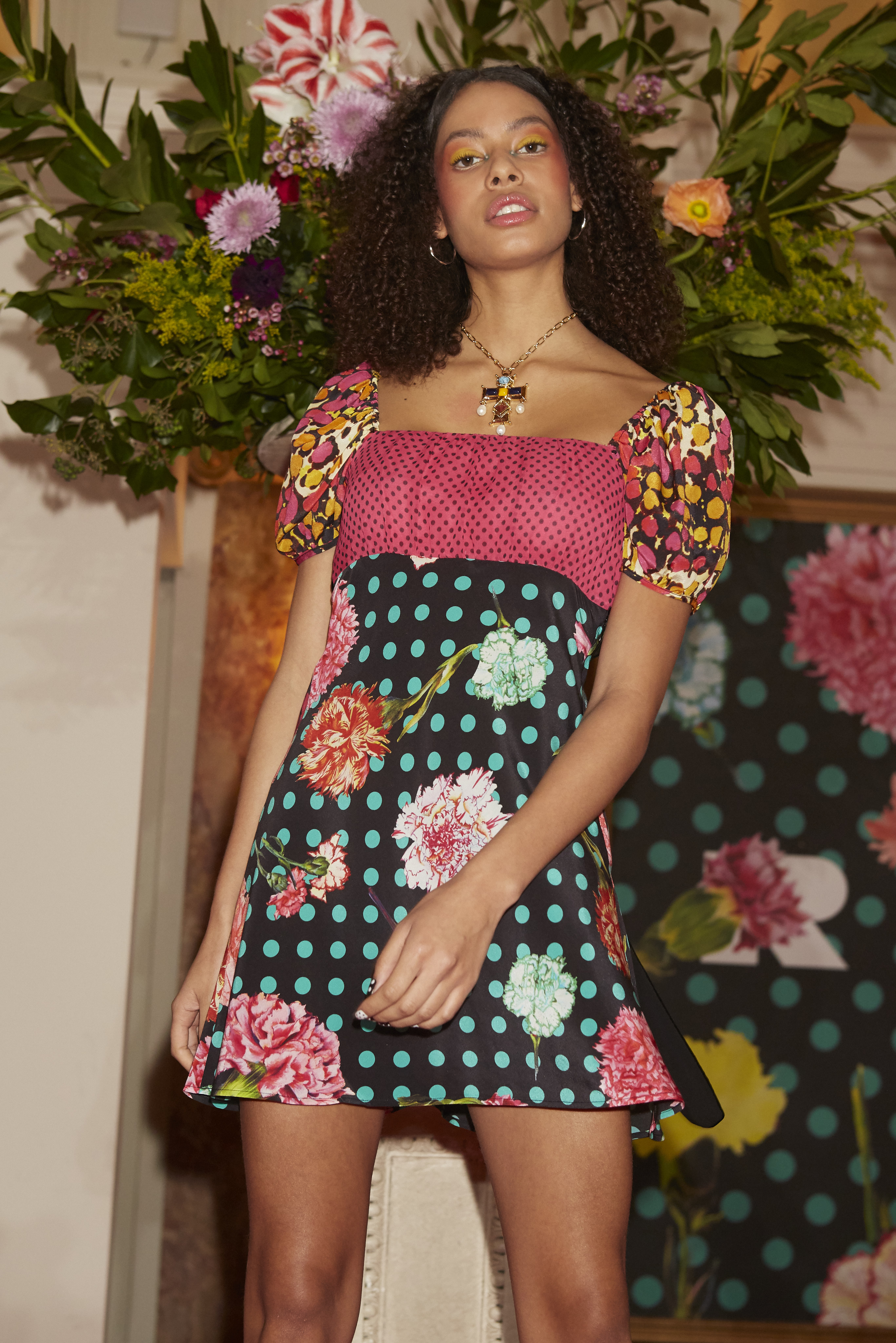 A look from the Rixo x House of Christian Lacroix collection