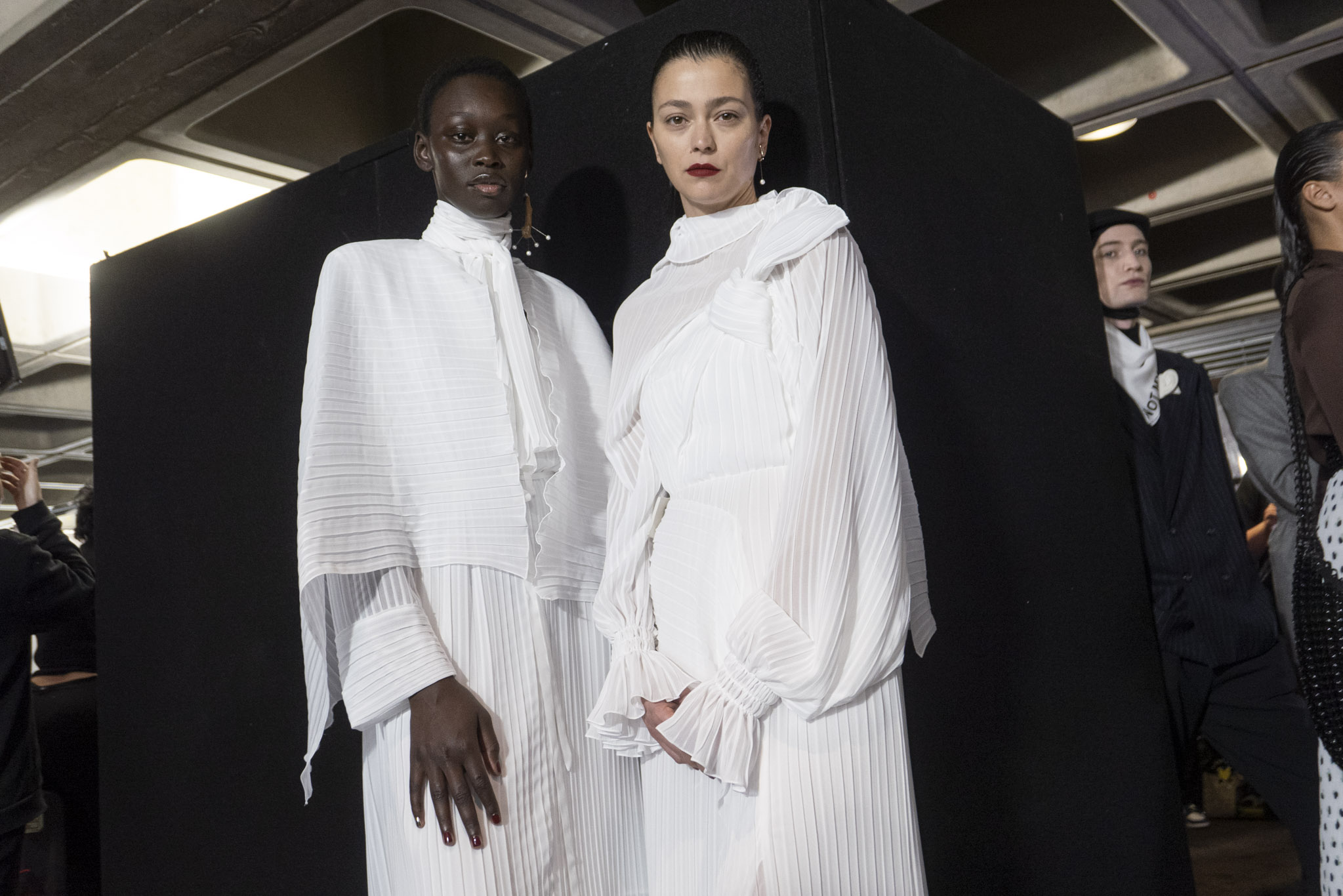 Backstage at Roulan Mouret RTW Fall 2020
