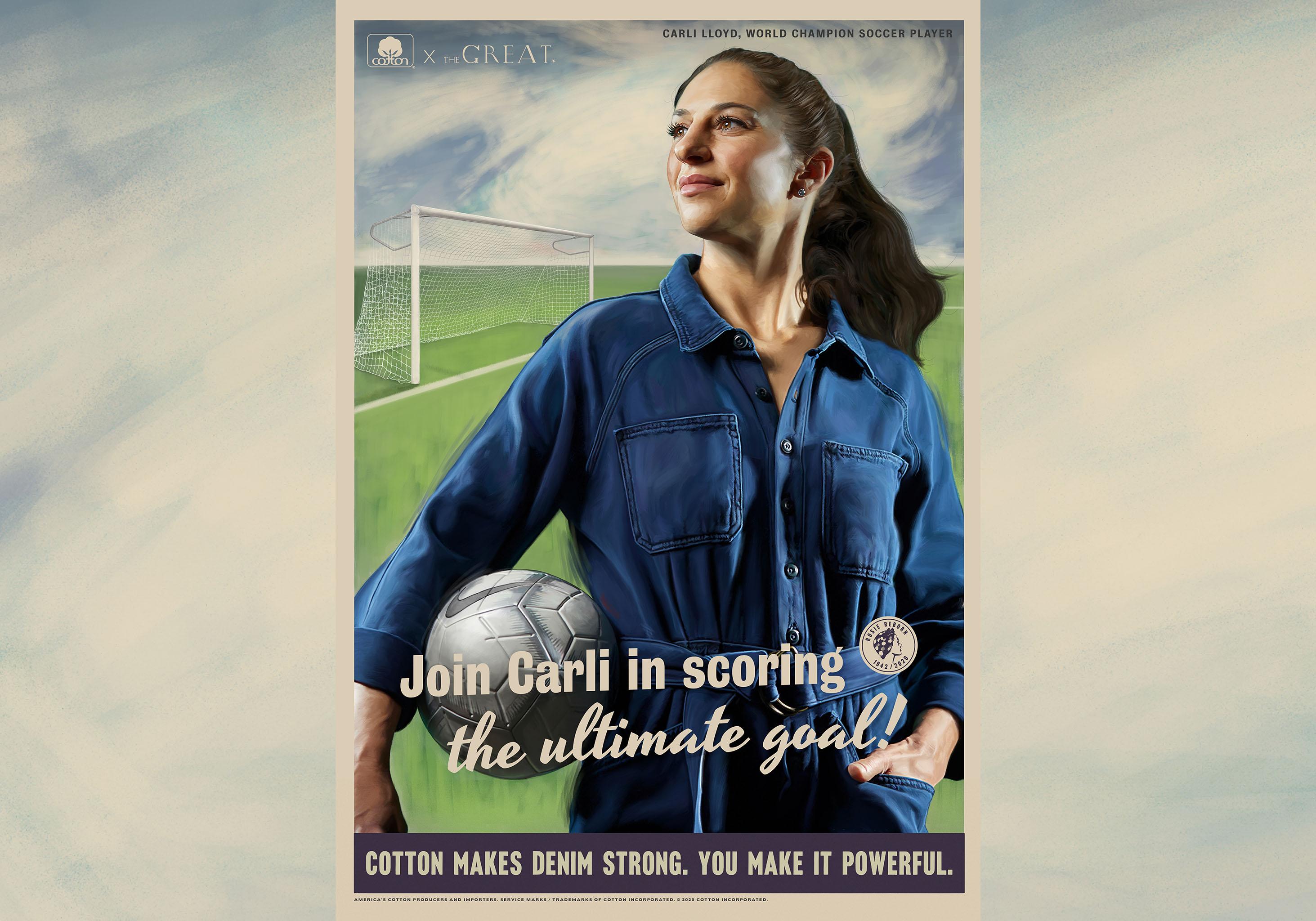 Soccer star Carli Lloyd is a modern-day Rosie the Riveter.