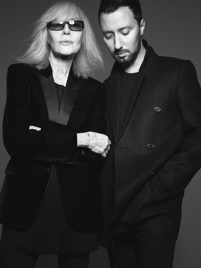 Betty Catroux and Anthony Vaccarello.