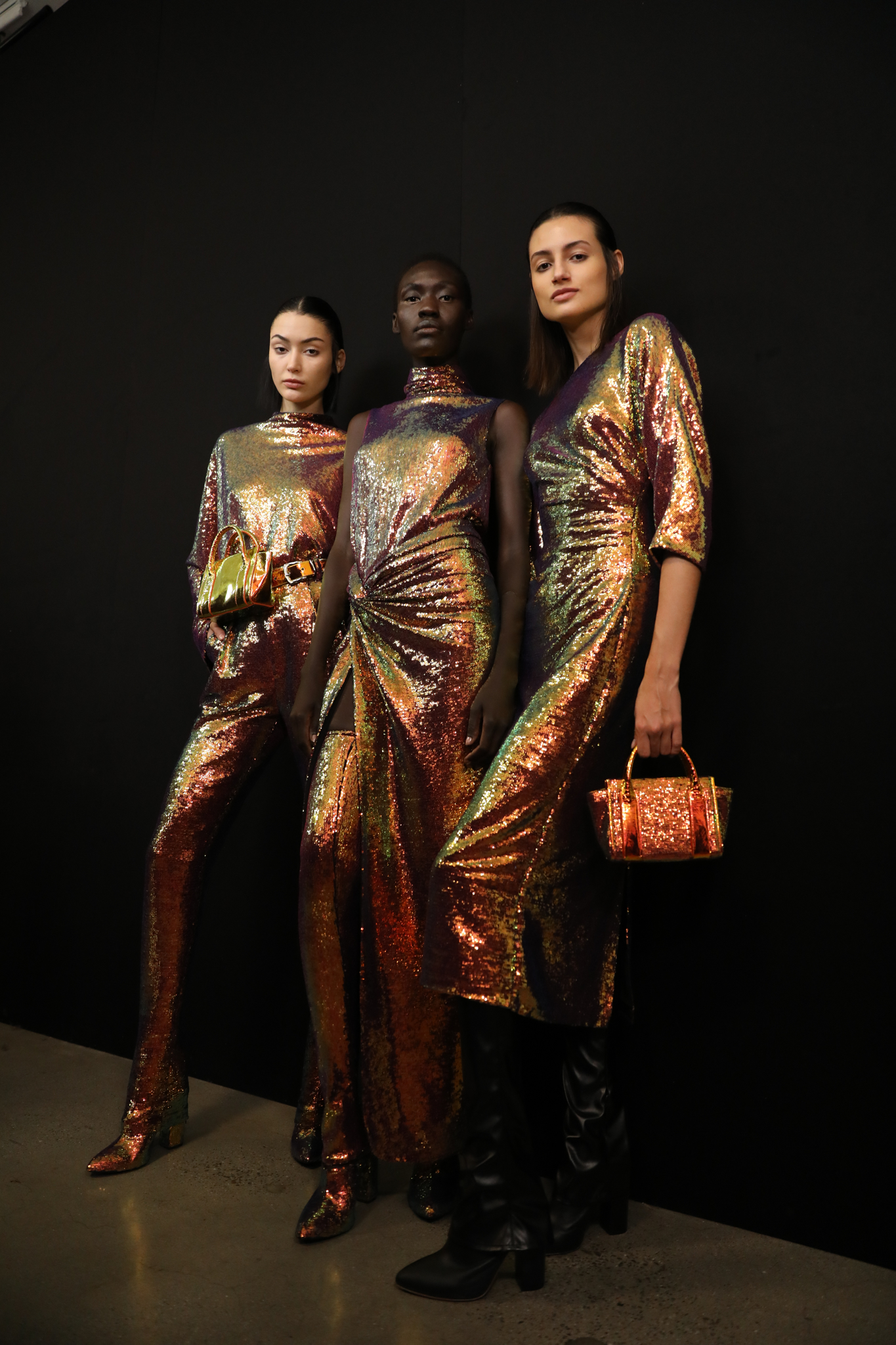 Backstage at Sally LaPointe RTW Fall 2020