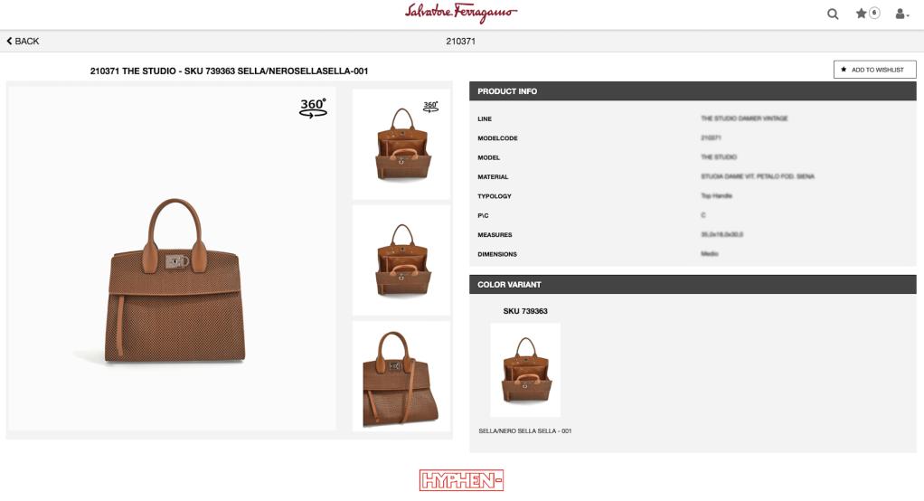 Salvatore Ferragamo virtual showroom developed by Hyphen