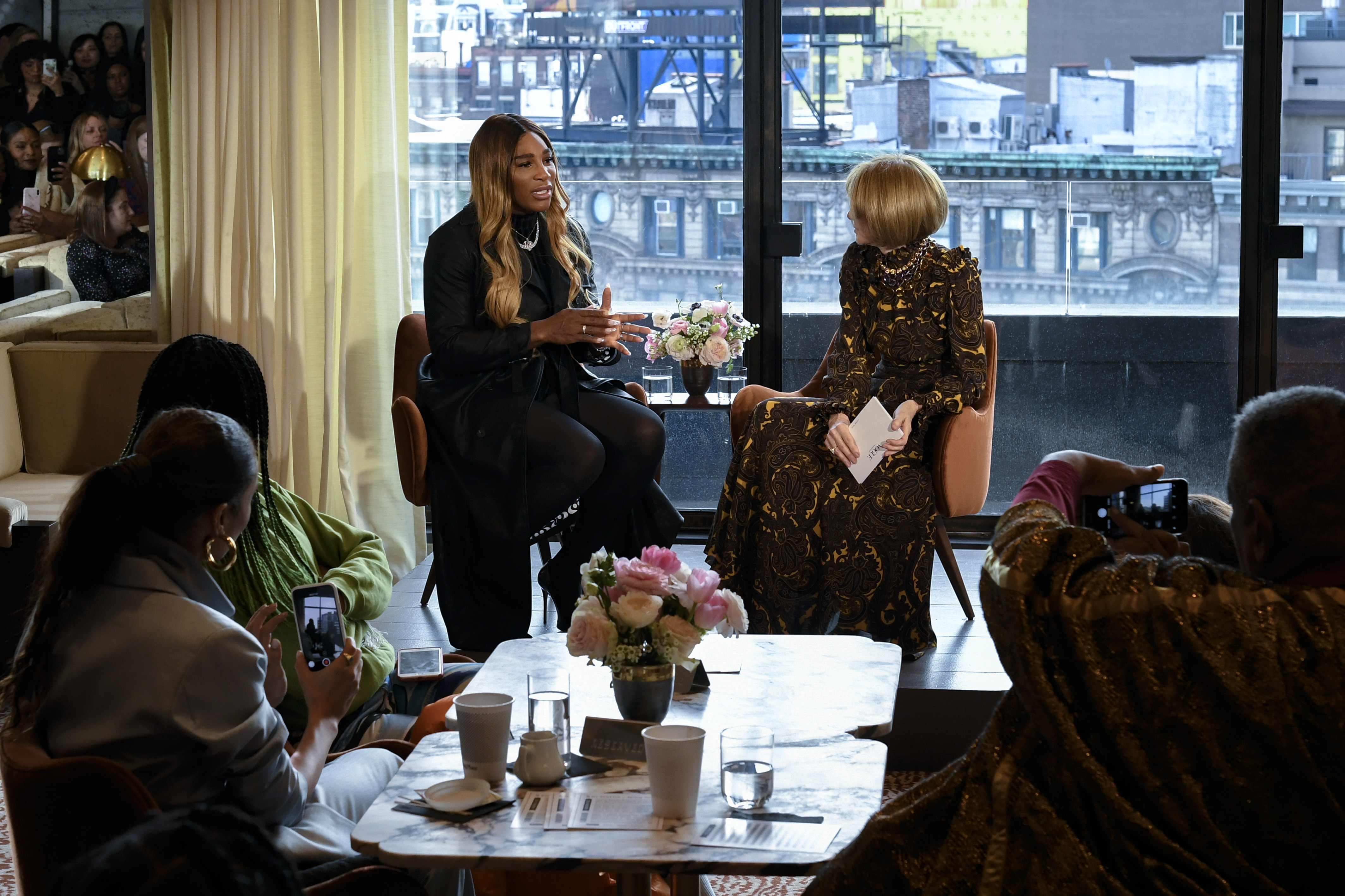 Serena Williams with Anna Wintour.