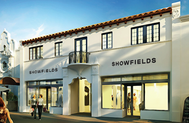A rendering of Showfields' store in Miami opening in the spring.