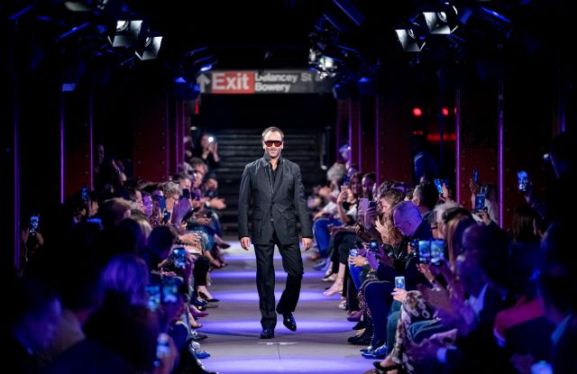 Tom Ford on the catwalkTom Ford show, Runway, Spring Summer 2020, New York Fashion Week, USA - 09 Sep 2019