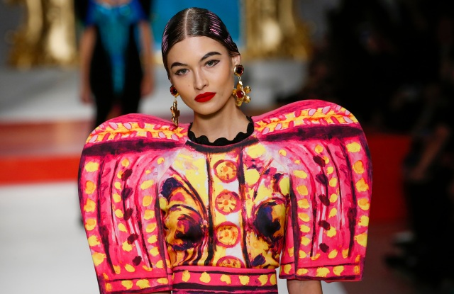 The spring 2020 Moschino fashion show during Milan Fashion Week.